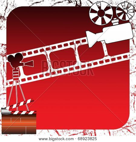 Movie projector and clapboard