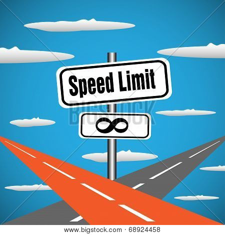 Speed limit signpost