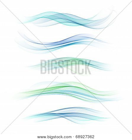 Set Of Abstract Design