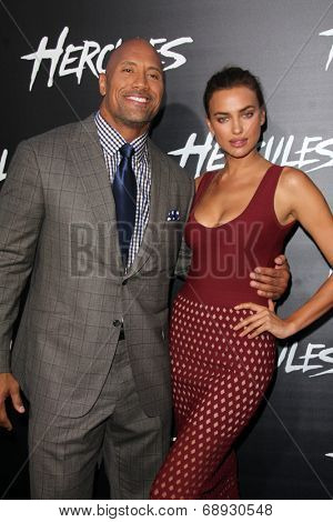 LOS ANGELES - JUL 23:  Dwayne Johnson, Irina Shayk at the