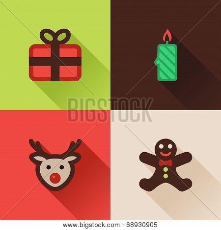 Christmas Flat Icons Set IV