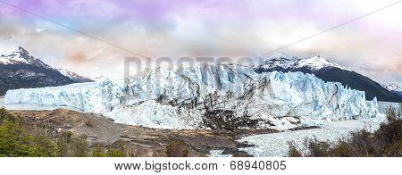Perito Moreno Glacier In The Los Glaciares National Park, Argentina.