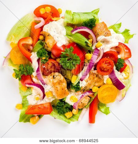 Chicken Gyros Salad