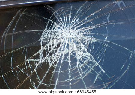 Accident, The Broken Glass Of The Car