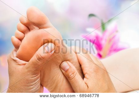 Reflexologist Doing Massage