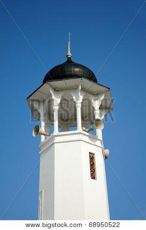Minaret of Alwi Mosque in Kangar