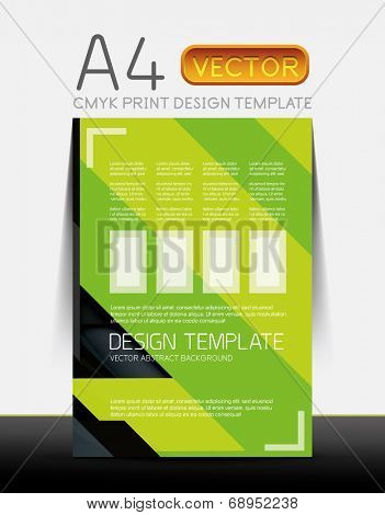 Abstract modern flyer brochure design template with sample text or business A4 booklet cover
