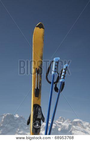 Ski poles and ski