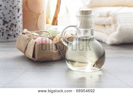 Massage Oil With Soap Balls