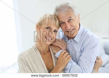 Portrait of senior and happy senior couple