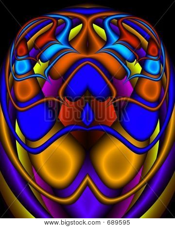 A Royal Egyptian Fractal Scarab