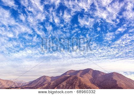 Dry Hills In The Elqui Valley