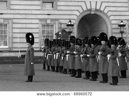 Horse Guards At Buckingham Palace
