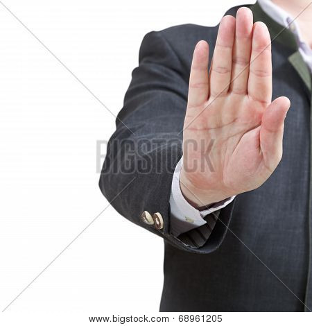 Stop Sign By One Open Palm - Hand Gesture