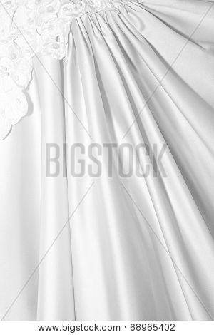 Vertical Bridal Background Of Fabric Lace And Beads