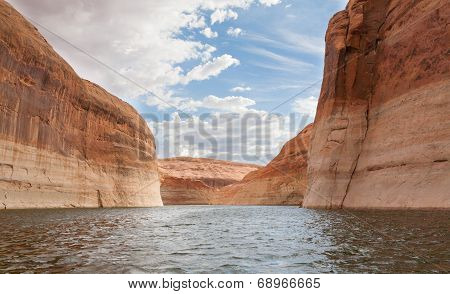Lake Powell Twisting Through Canyons