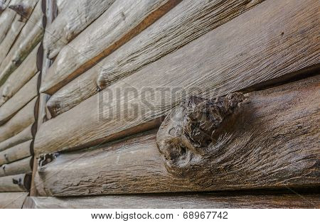 Texture Of Old Log Wall