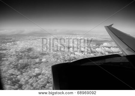 Sky and clouds. Shooting from a Plane