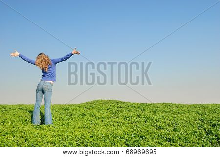 Girl In The Spring Field