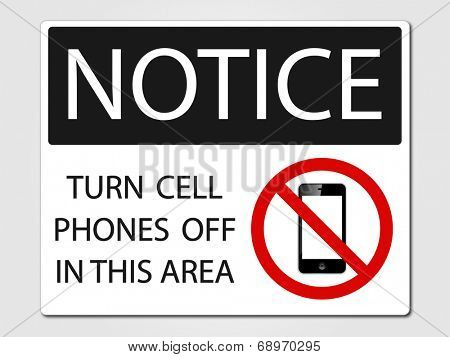 No cell phones allowed vector sign