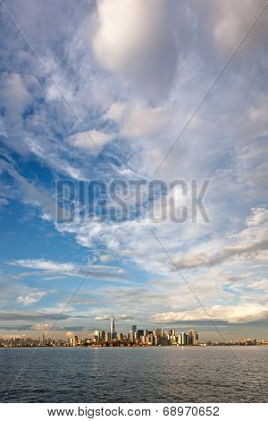 Light after the storm over downtown Manhattan, New York City