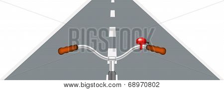 Bicycle handlebar and road