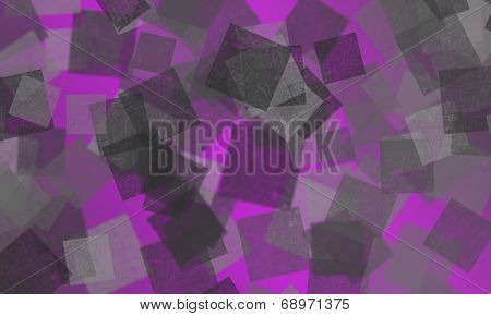 Purple CColour Background With Bokeh Squares