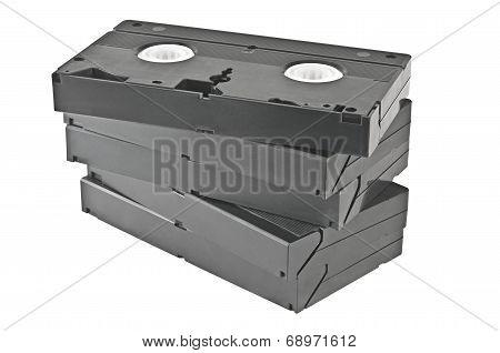 Video cassettes.