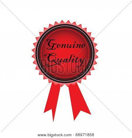 Genuine quality red rosette