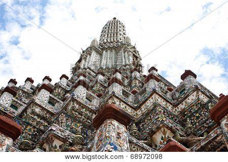 Uprisen Angle Of Phra Prang