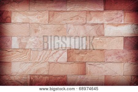 Sand Stone Wall Texture And Ackground Of Decorate, Brown Color