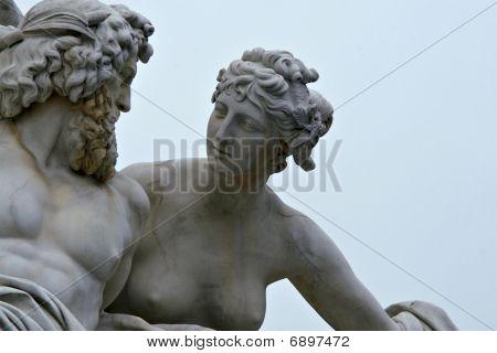 Marble Statue In Vienna, Austria