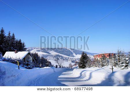 The Fichtelberg in the Saxon Erzgebirge
