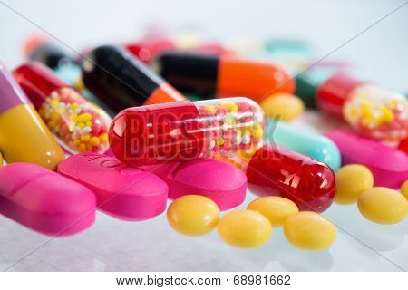 Various of  colorful pills