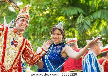 Victoria, Seychelles - April 26, 2014: Representatives Of German Delegation  At The Carnival Interna