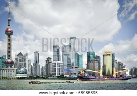 Shanghai, China - August 6, 2011: Cityscape Skyline