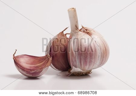 Garlic Bulb And A Individual Clove