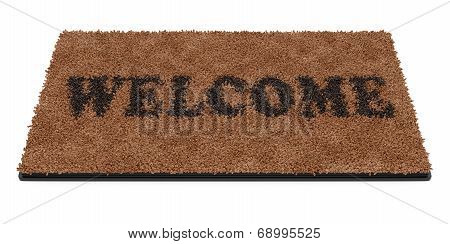 Doormat With Text Welcome