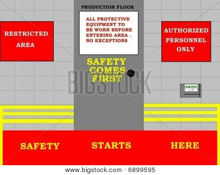 Safety Comes First Concept