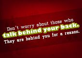 foto of not talking  - Do not worry about those who talk behind your back - JPG