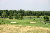 stock photo of fescue  - view from the fescue to the green - JPG