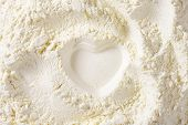 picture of staples  - print of heart in the soft wheat flour - JPG