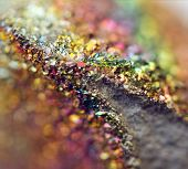 foto of bronze silver gold platinum  - Fantastic background magic of a stone rainbow in metal rock (big collection ).Macro