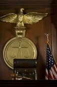 stock photo of court room  - Closeup of judge - JPG