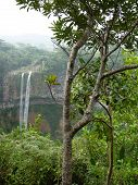 picture of chamarel  - Chamarel Falls In Mauritius Island - JPG