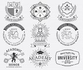 stock photo of school building  - Vector badges and crests for any use - JPG