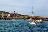 picture of bute  - Iona Abbey is located on the Isle of Iona just off the Isle of Mull on the West Coast of Scotland - JPG