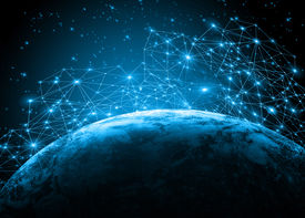 foto of globe  - Best Internet Concept of global business from concepts series - JPG
