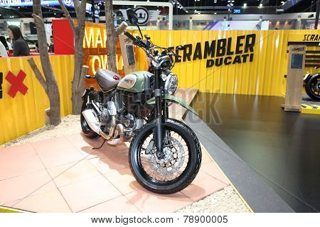 Bangkok - November 28: Ducati Scrambler X  Motorcycle On Display At The Motor Expo 2014 On November