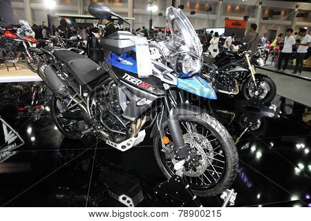 Bangkok - November 28: Triumph Tiger Gcx Motorcycle On Display At The Motor Expo 2014 On November 28